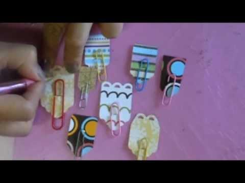 Tutorial: Separadores o Clips de papel - YouTube