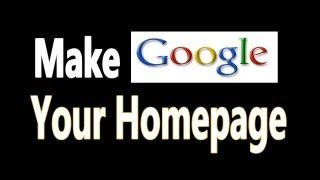 How To Make Google My Homepage In Firefox, Chrome, Safari, Internet explorer thumbnail