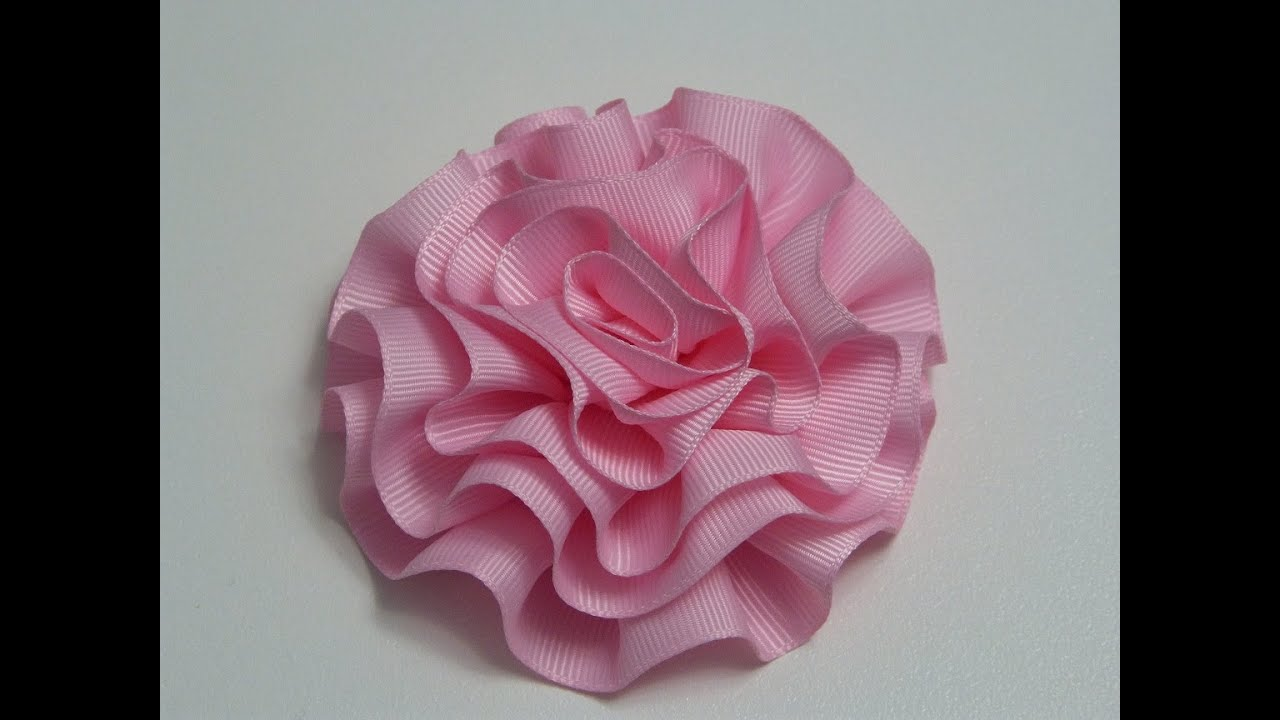 Diy Rosas o flores de listón para decoración de accesorios para el ...