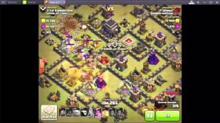 Clash Of Clans | Hog Rider Attack Strategy - 2016 | Golem + Hog = 3 STAR