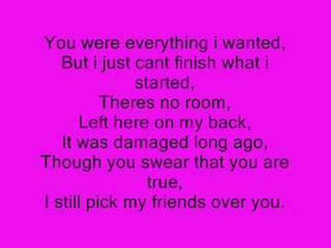 My Friends Over You - Lyrics