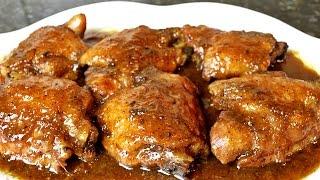 Contramuslos de pollo a la miel