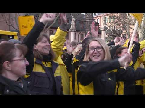Deutsche Post Flashmob in Mainz 11.02.2019