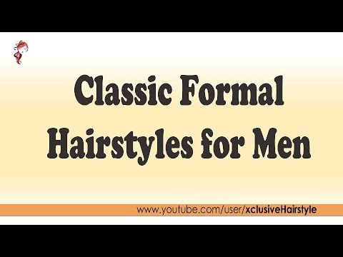 Classic Formal Hairstyles for Men