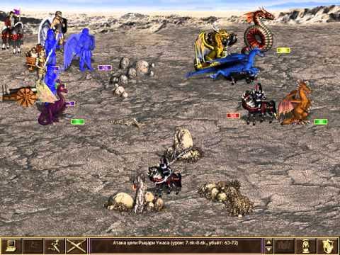 Легкий бой против 4000 Рыцарей Смерти. Герои Меча и Магии 3: Рог Бездны