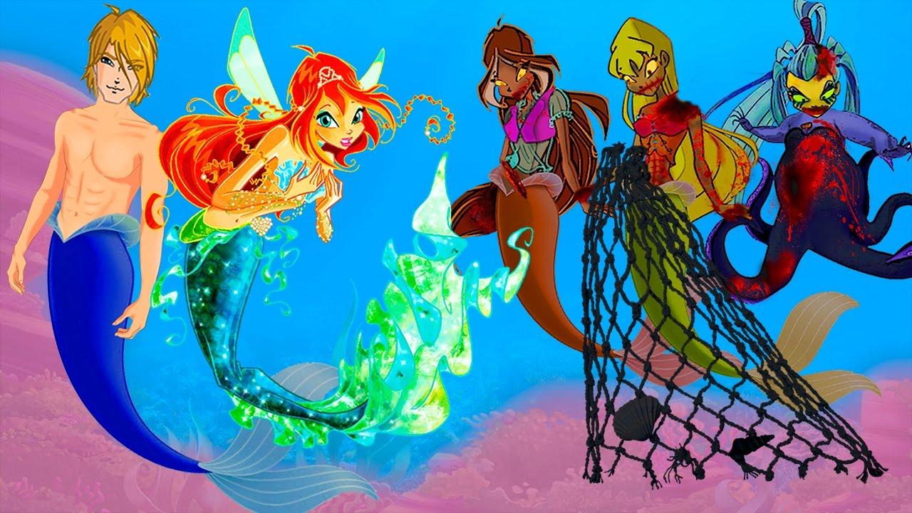 WINX CLUB Love Story Fan Animation Cartoon Mermaid Zombie