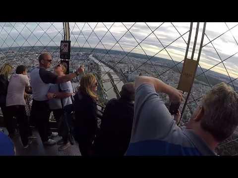 Paris Eyfel kulesi en üst kat görüntüleri