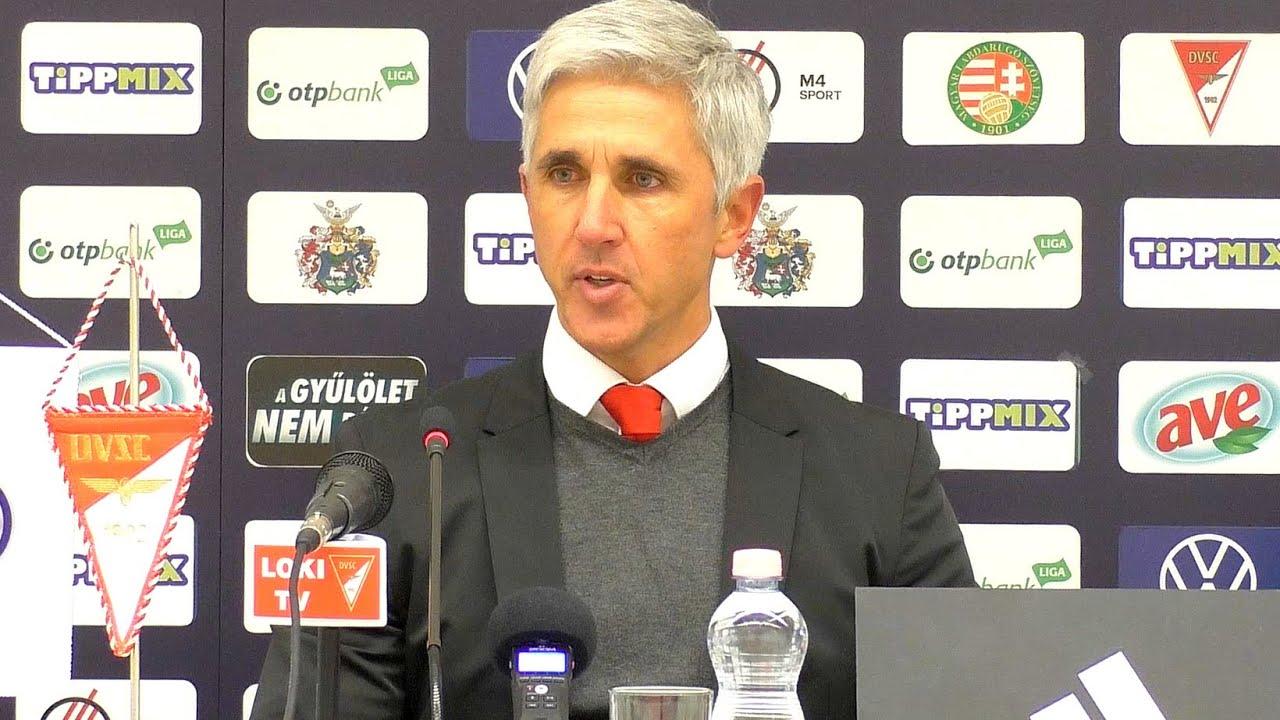 Sajtótájékoztató: DVSC-MOL Fehérvár FC (2020.02.05.) - YouTube