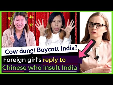 Foreign girl's reply to the Chinese who mock India [Foreign Media on India latest] Karolina Goswami
