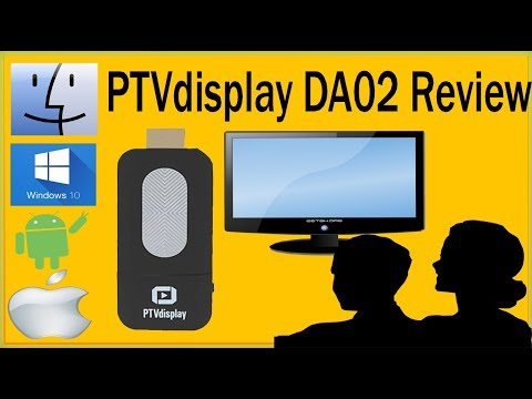 PTVdisplay DA02 Airplay WiFi Display Miracast TV Internet Dongle Review Gearbest