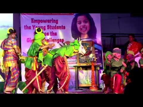 Folk Dance on Raythu Jeevanam (Farmer Dance) by Grade 7 Students