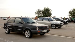 VW Golf 2 16V ABF vs Vectra 2.8T vs Calibra 2.0 vs VAZ 2108 (drag racing)