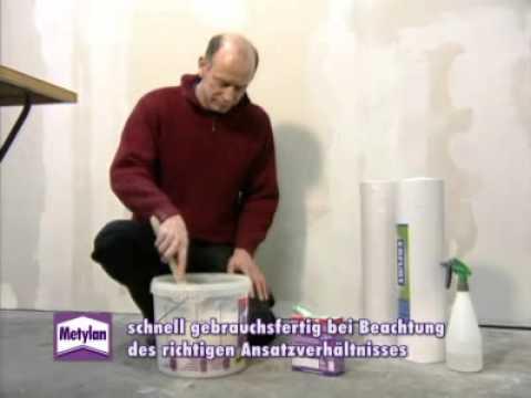 raufasertapeten richtig tapezieren mit metylan secura youtube