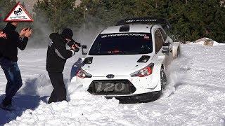 Test Loeb | Neuville | Mikkelsen | Hyundai WRC | Pre Rallye Monte-Carlo 2019 [Passats de canto]