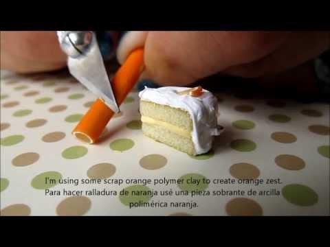 Polymer Clay Miniature Orange Cake for Earrings Tutorial