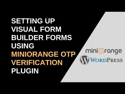 OTP Verification For Visual Form Builder - Plugins - miniOrange