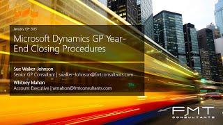 Microsoft Dynamics GP 2013 R2 Year-End Closing Instructions