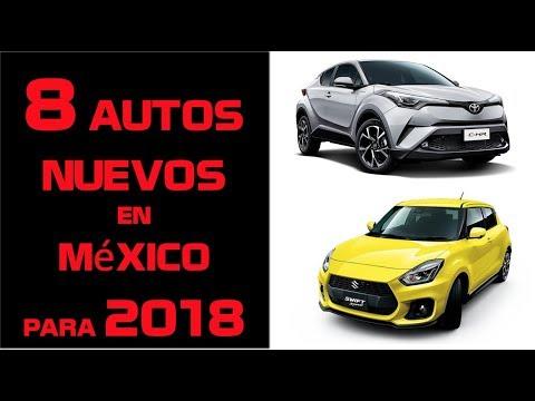 Autos que llegan a Mexico en 2018