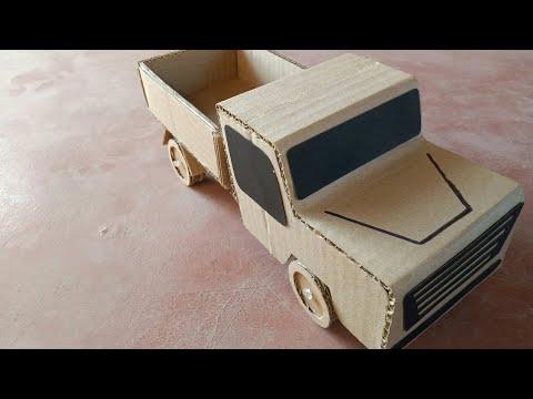 How to make RC mahindra bolero pick-up from cardboard