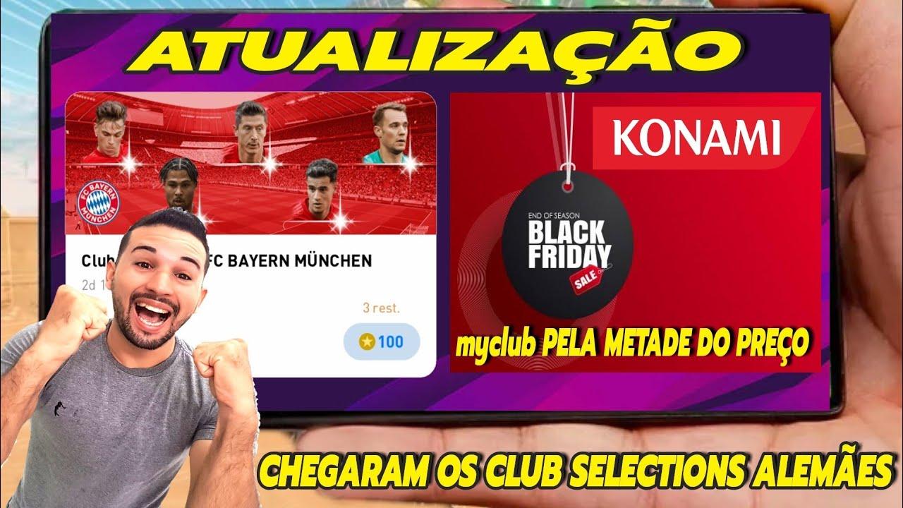 ATUALIZAÇÃO,CHEGOU A BLACK FRIDAY NO PES 2020 MOBILE,NOVOS CLUB SELECTIONS ALEMÃES