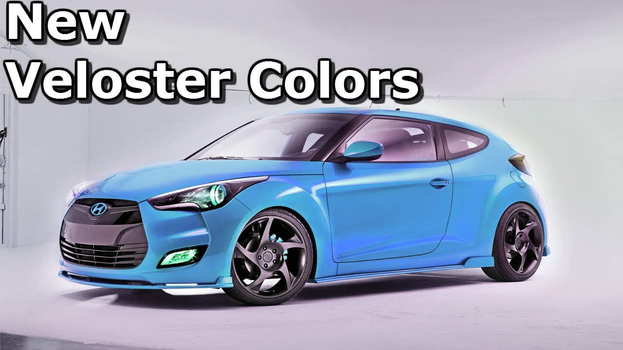 New Colors Unveiled For Hyundai Veloster Youtube
