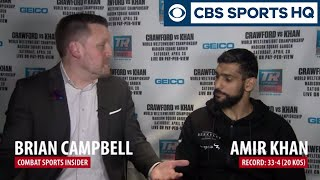 Amir Khan Ready to STEP UP and Take Terence Crawford's Title | CBS Sports