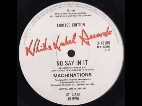 Machinations - No Say In It (Mendelsohn's Played Mix)