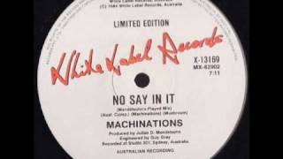 Machinations - No Say In It (Mendelsohn