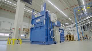 Papierpresse AutoLoadBaler im Einsatz bei der Röthlein Logistik/ AutoLoadBaler at Röthlein Logistik