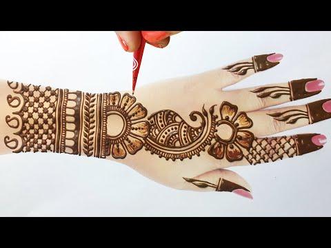 2020 Special Stylish Arabic Wedding Mehndi Design- आसान शेडेड मेहँदी डिज़ाइन- Arabic Henna Mehndi