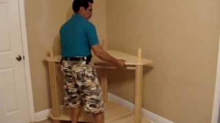 The Easiest And Fastest Entertainment Center Assembly Of A Corner Unit