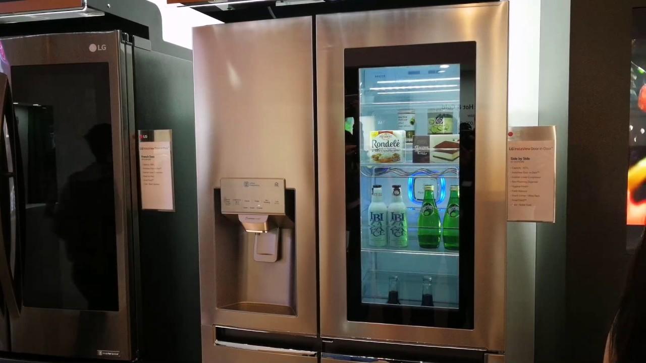 Lg Refrigerator Instaview Door In Door Knock On Youtube