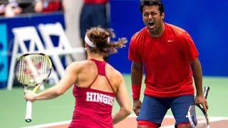 Leander Paes & Martina Hingis 7/16/14 Mixed Doubles Highlights