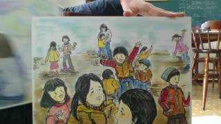 I drew 17picture bords and tell this story for children.