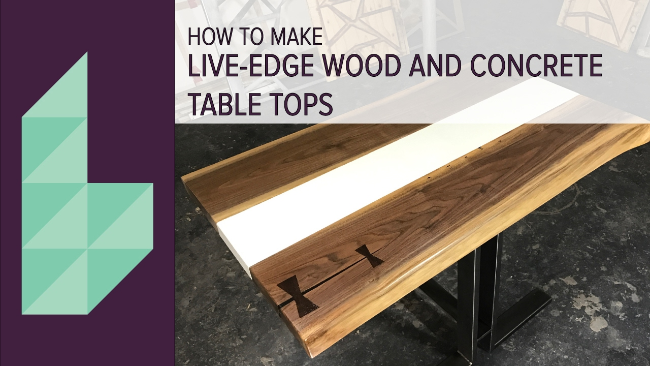How To Make A Concrete And Wood Table Top