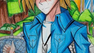 drawing Yu-Gi-Oh! Joey Wheeler