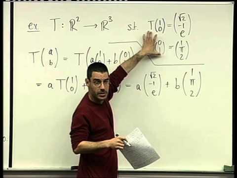 54 -  Matrix representation of linear maps