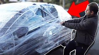EŞEK ŞAKASI - Melih'in Arabasını Streç Filmle Kapladık