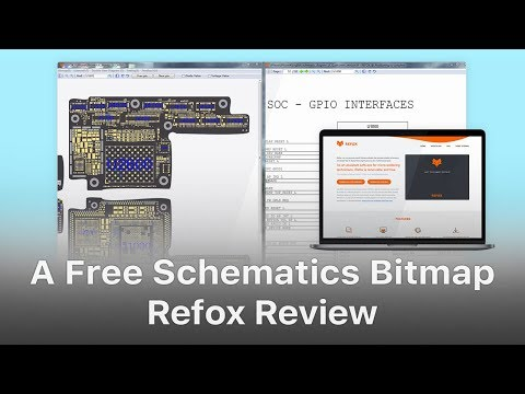 Refox Review - A Free Boardview Schematics Bitmap For Logic