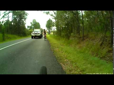 Dangerous driver on Old Landsborough Rd, Beerwah, Qld.
