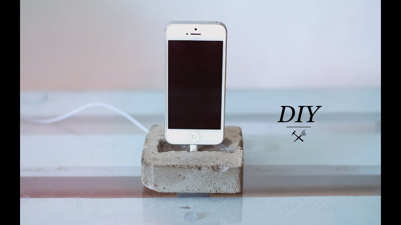 Diy Concrete Phone Dock Youtube