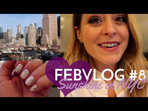 Sunshine, Marble Nails and Broadway! FebVlog 8