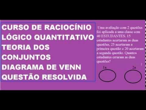 Curso de raciocnio lgico quantitativo teoria dos conjuntos curso de raciocnio lgico quantitativo teoria dos conjuntos diagrama de venn questo resolvida ccuart Gallery