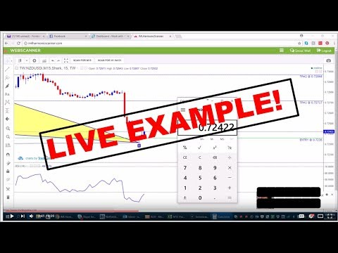 iMarketsLive IML Harmonic Scanner Strategy - LIVE TRADE!
