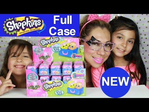 NEW 2017 Shopkins Food Fair Blind Lunch Box 2 packs - Limited Candy Mandy? Happy Bday Bella