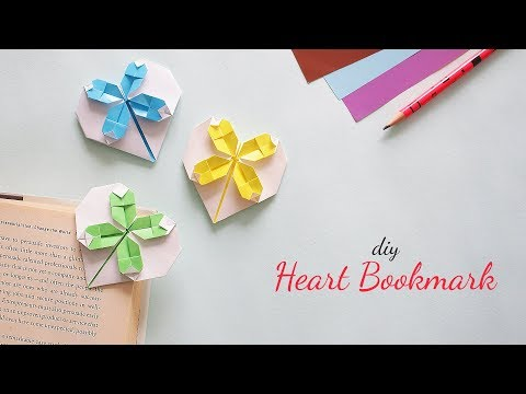 DIY Heart Bookmark |  Valentines Day Gifts for Him |  DIY Bookmarks