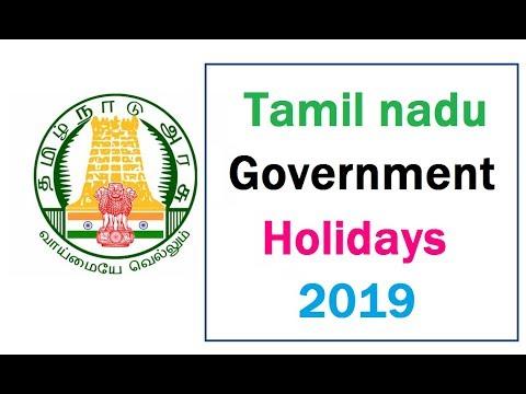 tamil nadu government holidays 2019|2019 - அரசு விடுமுறை நாட்கள்!