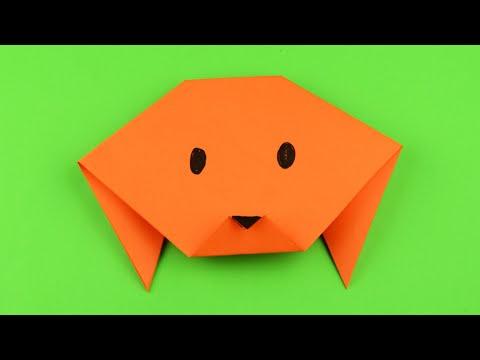 Как сделать собаку оригами из бумаги легко и просто. Своими руками очень простое оригами