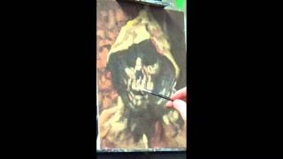Tombs Of The Blind Dead Speed Painting by RF Pangborn