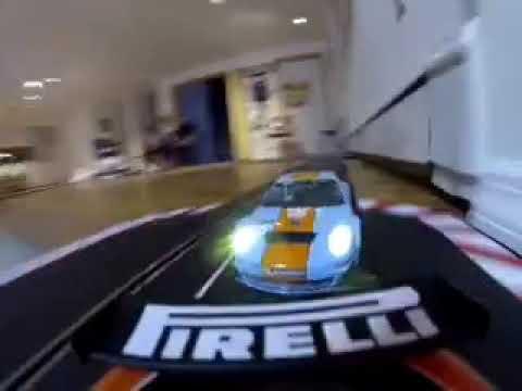 Carrera slot car 1/24 Porsche 911 #23810 on Monza track.